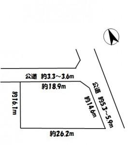 各務原市 売地 1,120万円 川島の区画図