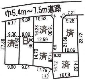 関市 売地 900万円 倉知 緑ヶ丘の区画図