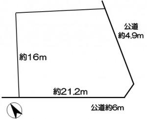 江南市小折本町小松原の区画図