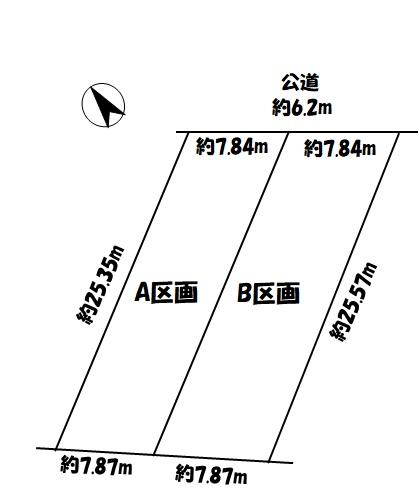 江南市和田町天神 798万円 古知野北/北部の区画図